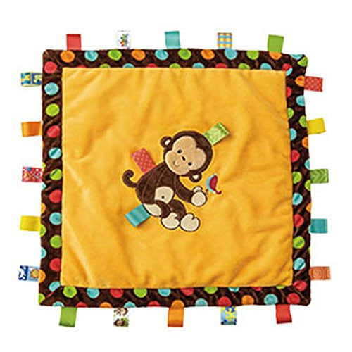 Mary Meyer Taggies Dazzle Dots Cozy Blanket, Monkey - JEN'S KIDS BOUTIQUE