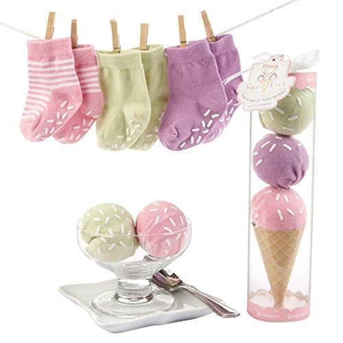 Baby Aspen Sweet Feet Three Scoops Of Socks for Baby Pink - JEN'S KIDS BOUTIQUE
