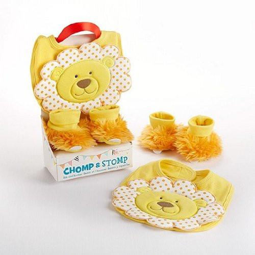 Baby Aspen, Chomp & Stomp Lion Bib and Booties Gift Set, Yellow, 0-9 Months - JEN'S KIDS BOUTIQUE