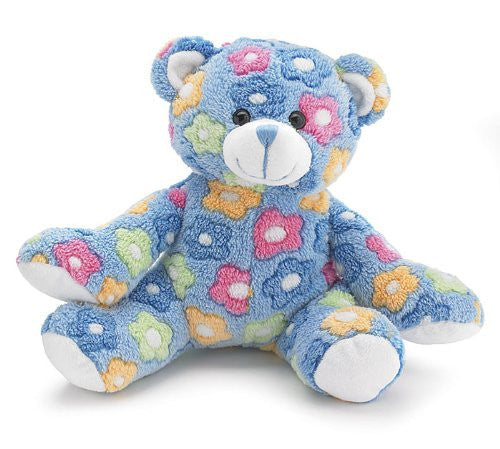 Burton and Burton Plush Blue Floral Teddy Bear - JEN'S KIDS BOUTIQUE