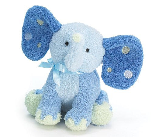 "Burton and Burton Patrick Plush Elephant Rattle Blue 5-1/2"" - JEN'S KIDS BOUTIQUE"