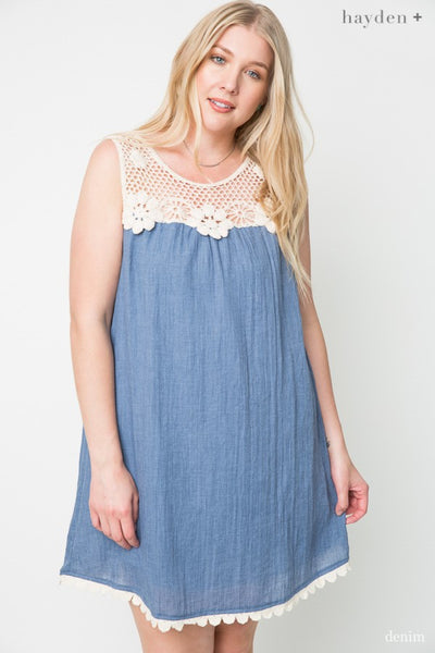 2019 Summer Women's Plus Size Floral Crochet Dress - JEN'S KIDS BOUTIQUE