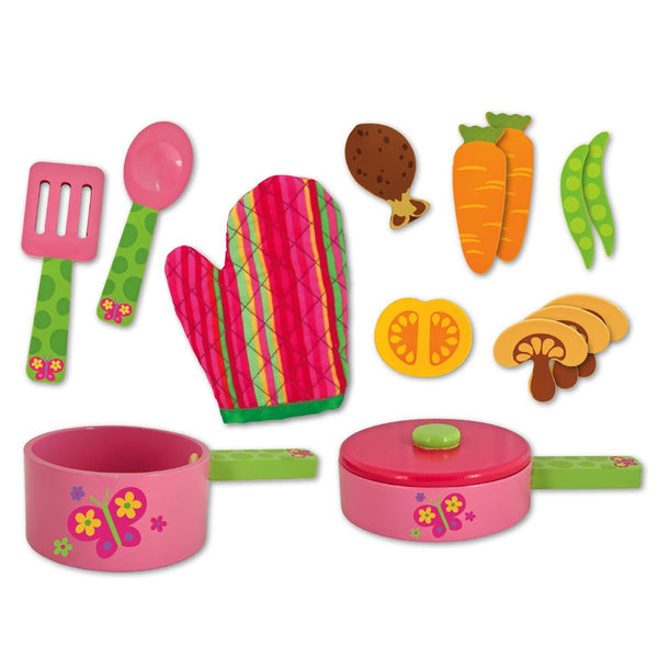 Stephen Joseph Wooden Cook Set - JEN'S KIDS BOUTIQUE