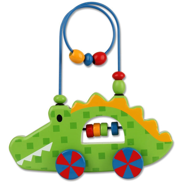 Stephen Joseph Alligator Rolling Wire and Bead Toy - JEN'S KIDS BOUTIQUE