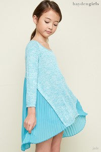 Hayden Aqua Retro Shirt - JEN'S KIDS BOUTIQUE