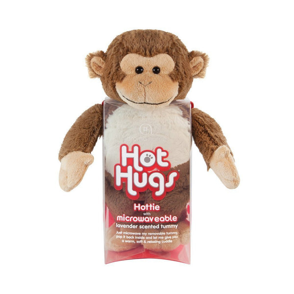 Aromahome Aroma Home Monkey Hot Hugs Lavender Microwaveable Insert Hottie Plush Stuffed Animal - JEN'S KIDS BOUTIQUE