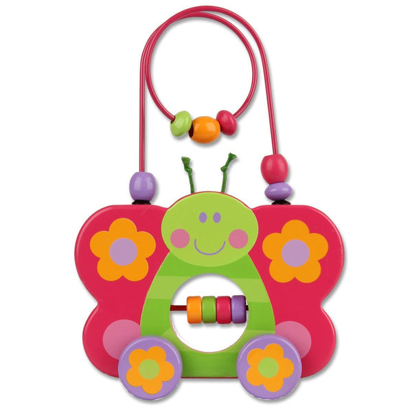 Stephen Joseph Butterfly Rolling Wire and Bead Toy - JEN'S KIDS BOUTIQUE