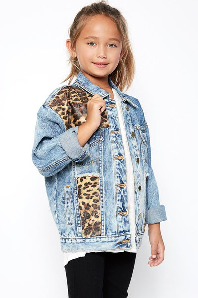 Hayden 2017 Fall Oversize Leopard  Jacket - JEN'S KIDS BOUTIQUE
