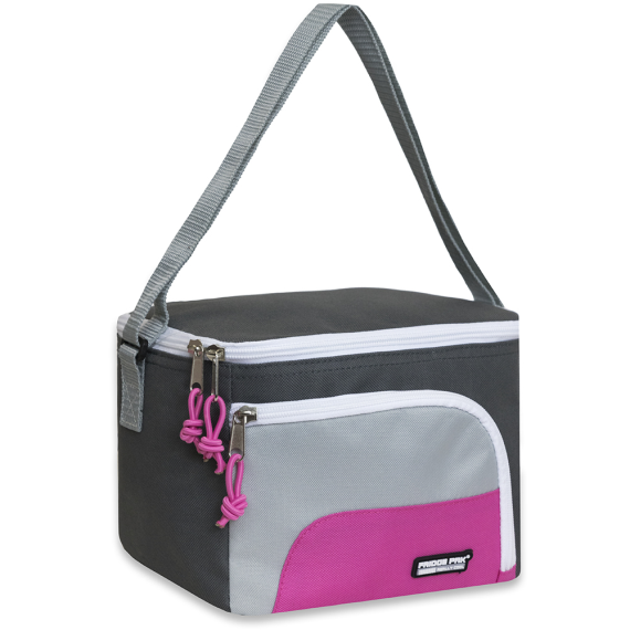 Schools In Awesome Lunch Bags Gray and Pink - JEN'S KIDS BOUTIQUE