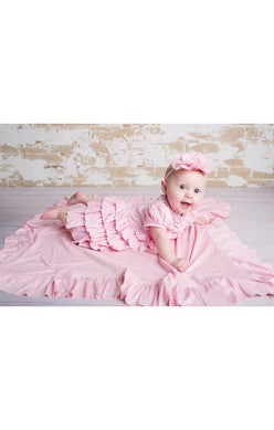 Lemon Loves Lime Bliss Baby Pink Blanket - JEN'S KIDS BOUTIQUE