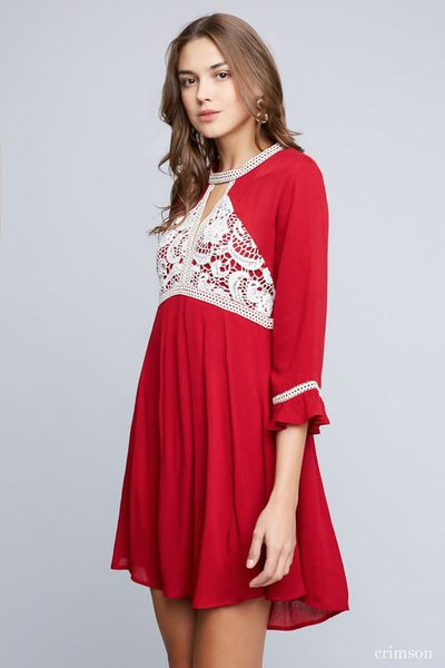 2018  Spring Hayden's Mommy Red Dress - JEN'S KIDS BOUTIQUE