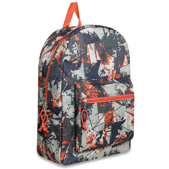 Schools In Backpacks Orange Camo Crazy - JEN'S KIDS BOUTIQUE