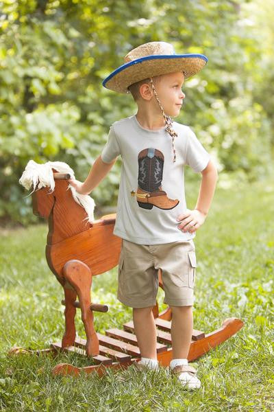 Wally & Willie Spring Boot Shirt S - JEN'S KIDS BOUTIQUE