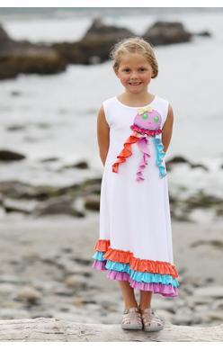 2018 Spring Lemon Loves Lime Happy Jellyfish Dress - JEN'S KIDS BOUTIQUE