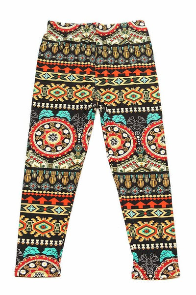 2018 Fall Kids Aztec Tribal Print Brushed Yummy Leggings. - JEN'S KIDS BOUTIQUE