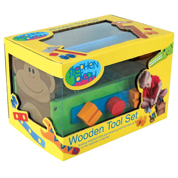 Stephen Joseph Zoo Wooden Tool Box Set - JEN'S KIDS BOUTIQUE
