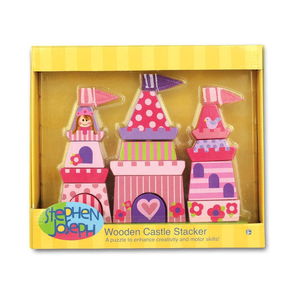 Stephen Joseph Princess Wooden Stacking Set - JEN'S KIDS BOUTIQUE