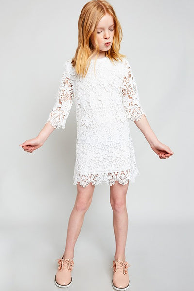 Fall Hayden Lace Shift Dress - JEN'S KIDS BOUTIQUE