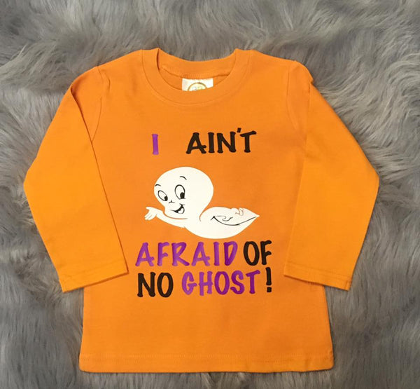 Jen's Kids Custom Halloween I Ain't Afraid Of No Ghosts - JEN'S KIDS BOUTIQUE