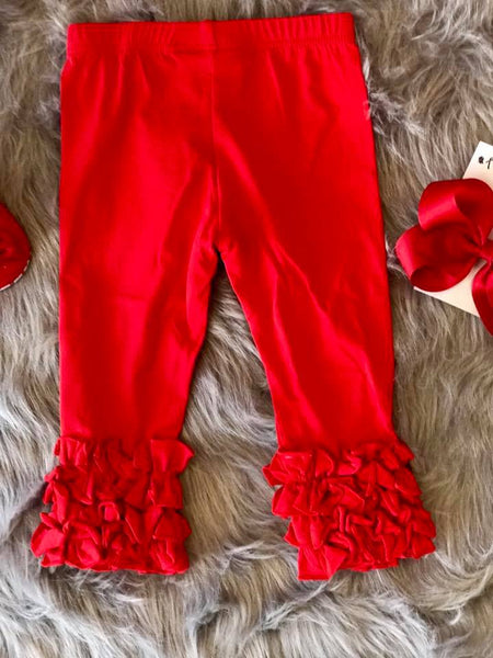 Serendipity Fall Red Dipity Icing Leggings - JEN'S KIDS BOUTIQUE