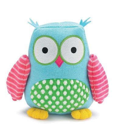 "Burton and Burton Hootie Cutie 9"" Knit Owl Plush Hoot Stuffed Animal Plush Toy - JEN'S KIDS BOUTIQUE"