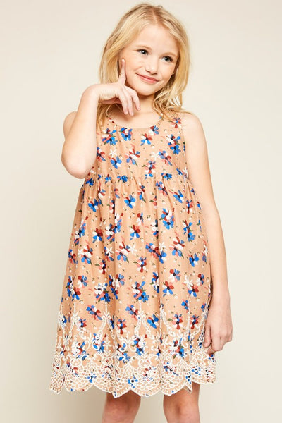 Spring Hayden Pink Floral Sleeveless Dress S - JEN'S KIDS BOUTIQUE