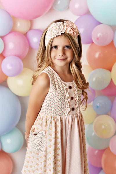Spring & Easter Swoon By Serendipity Blush Prim Petal Tier Dress Set - JEN'S KIDS BOUTIQUE