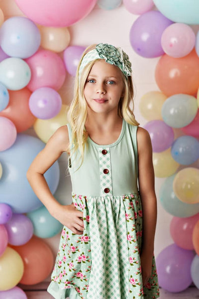Spring & Easter Swoon By Serendipity Flora Bellal Prim Tier Dress Set - JEN'S KIDS BOUTIQUE