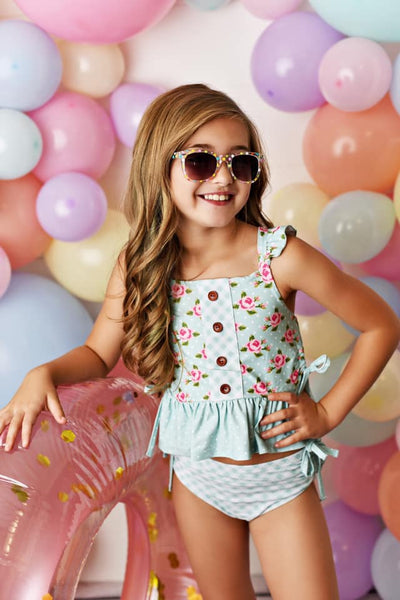Spring & Summer Swoon By Serendipity Flora Bella Two Piece Swimsuit - JEN'S KIDS BOUTIQUE