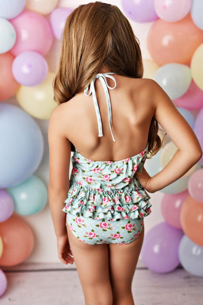 Spring & Summer Swoon By Serendipity Flora Bella One Piece Swimsuit - JEN'S KIDS BOUTIQUE