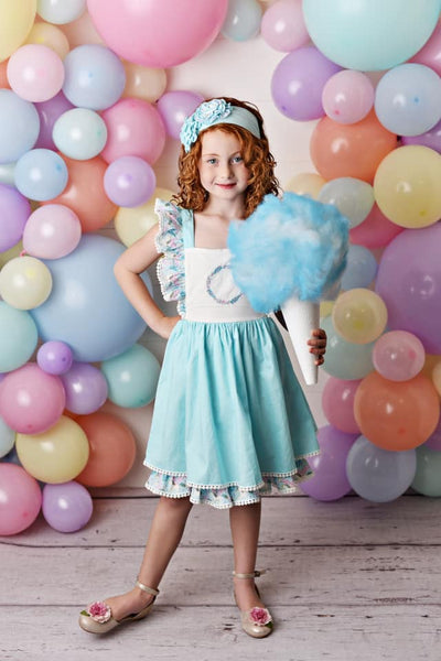 Serendipity Cotton Candy Embroidered Pinafore Dress - JEN'S KIDS BOUTIQUE