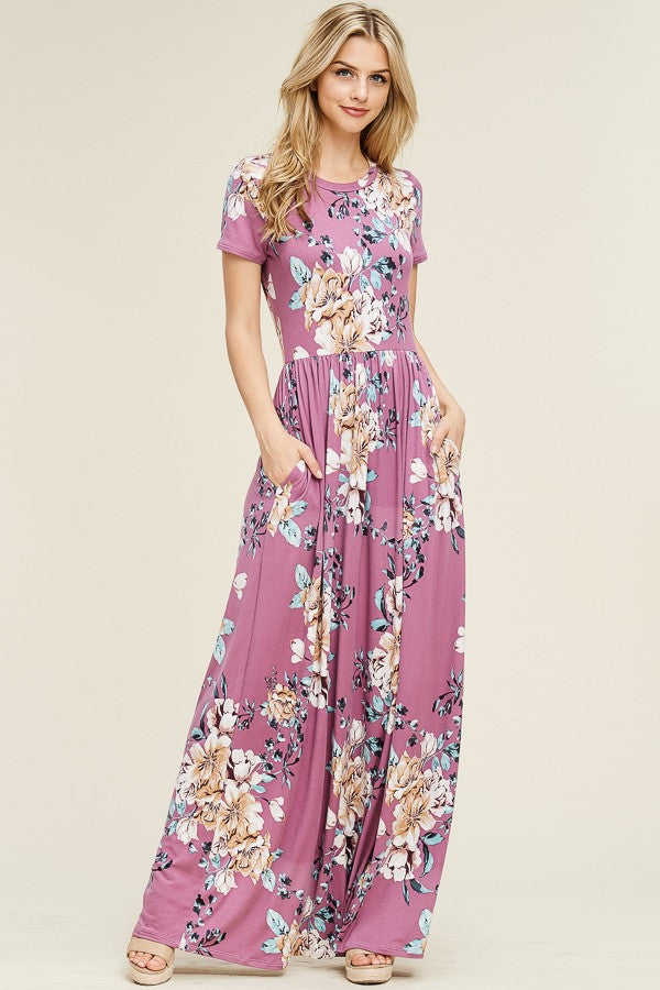 eced27ede36 ... 2019 Spring Women s Mauve Flower Maxi Dress - JEN S KIDS BOUTIQUE ...