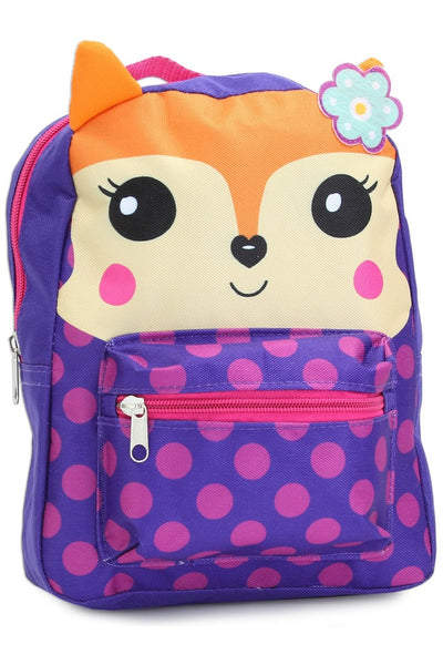 Fall Back To School Girls Critters Fox Mini Backpack - JEN'S KIDS BOUTIQUE