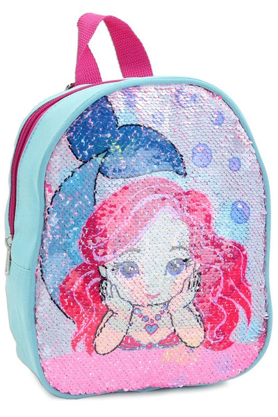 2018 Girls Flip Sequin Mermaid Mini Backpack - JEN'S KIDS BOUTIQUE