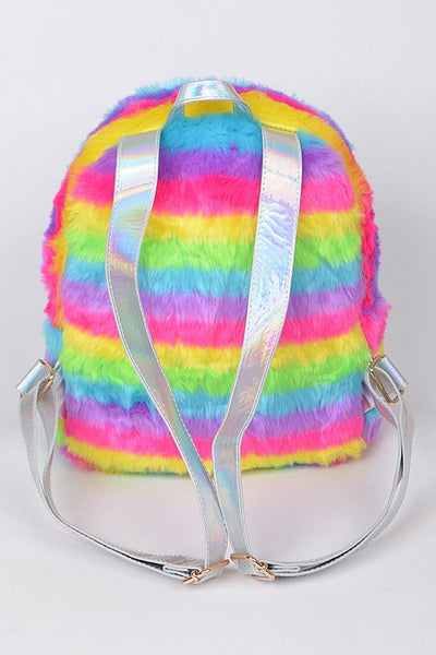 Furry Rainbow Backpack - JEN'S KIDS BOUTIQUE