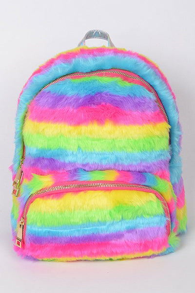 2018 Furry Rainbow Backpack - JEN'S KIDS BOUTIQUE