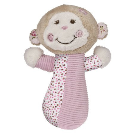 Mary Meyer Baby Cheery Cheeks Rattle,  Pink Monkey - JEN'S KIDS BOUTIQUE