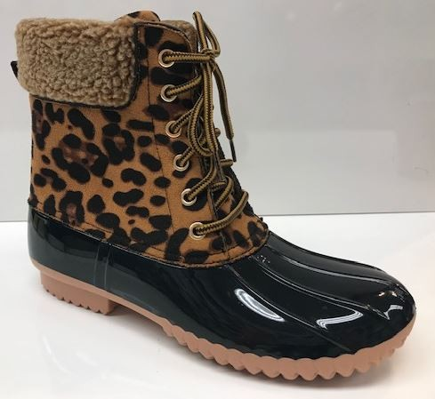 FALL WOMENS FAUX FUR CUFF WEATHER DUCK BOOTS - JEN'S KIDS BOUTIQUE