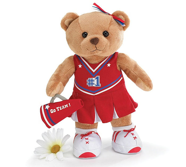 "Burton and Burton Cheerleader  Bear 10"" - JEN'S KIDS BOUTIQUE"