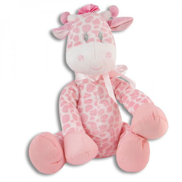 LARGE STUFFED BABY GIRAFFE - PINK - JEN'S KIDS BOUTIQUE