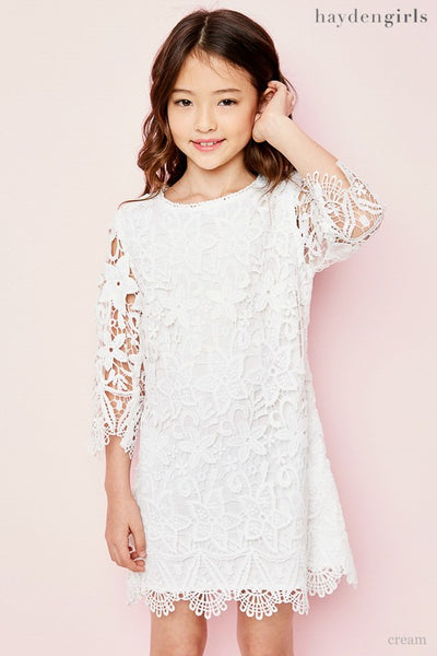 2018 Spring Kids Lace Shift Dress - JEN'S KIDS BOUTIQUE