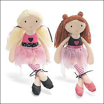 "GUNDA Girls Just Wanna Have Gund Arianna Plush 9"" Red Head Ballerina Bendable Doll - JEN'S KIDS BOUTIQUE"