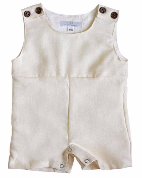2018 Spring Dillian Jumpsuit Cream Boys Romper - JEN'S KIDS BOUTIQUE