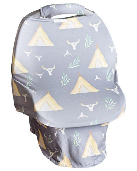 2018 Spring TeePee Carseat Cover W/Plush Handle - JEN'S KIDS BOUTIQUE