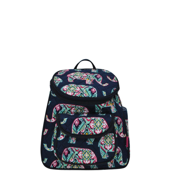 Elephant Fun Print Quilted Mini backpack - JEN'S KIDS BOUTIQUE