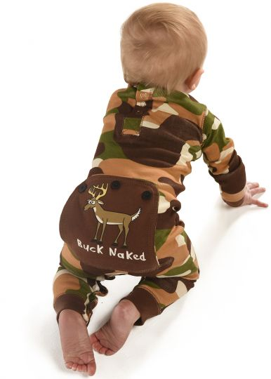 Lazy Z Flapjacks 2017 Buck Naked Green Camo Infant Flapjacks