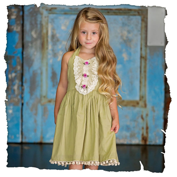 Haute Baby Easter Frilly Frocks Gwendolyn Sundress C - JEN'S KIDS BOUTIQUE