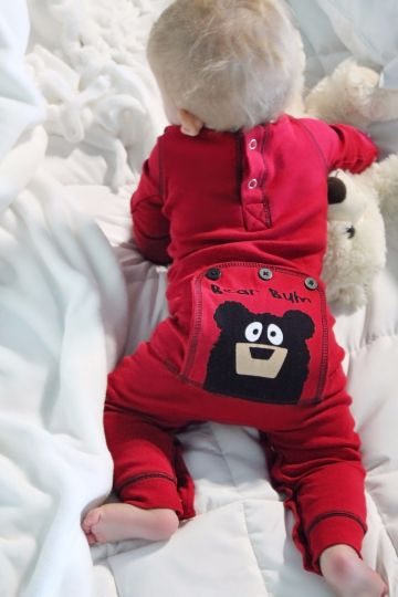 Lazy Z Flapjacks 2017 Bear Bum Red Infant Flapjacks