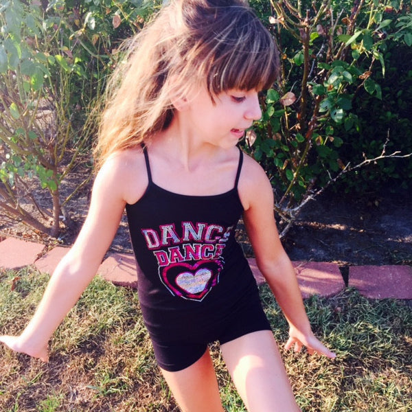Idea Kids Love Dance Shorts Pink - JEN'S KIDS BOUTIQUE