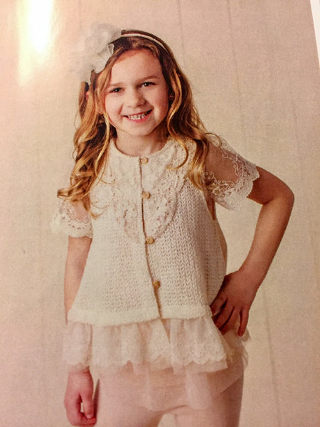 MAELI ROSE Spring Crochet Fun Vest Ivory - JEN'S KIDS BOUTIQUE